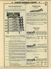 1935 ADVERT Disston Keystone Hand Saw Saws Hardware Store Display Rack Stand