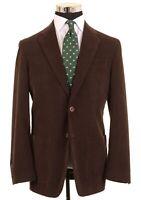 Robert Talbott Carmel Brown Thin Wale Cotton Corduroy Patch Pocket Sport Coat 40