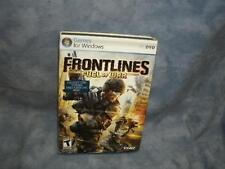 Frontlines: Fuel of War (PC DVD-rom, 2008)