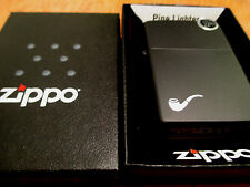 Zippo Black Matte Pipe Lighter smoking gentleman dad dapper Made in USA NEW