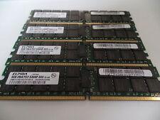 Elpida EBE41AE4ACFA-6E-E DDR2 RAM 16GB ( 4x 4GB ) ECC 405477-061 Server #R5814