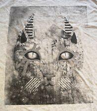 XWWX Future Prehistoric Monolithic Tabby Cat T-Shirt M Sphinx Occult Bast New