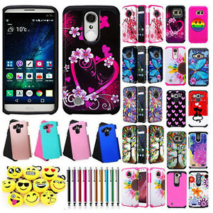 For LG Stylo 3 Stylo 3 Plus Shockproof Armor Hard Dual Layer Hybrid Cover Case
