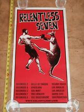 RARE 2008 BEN HARPER - RELENTLESS SEVEN, CONCERT POSTER, CALIFORNIA TOUR DATES