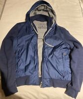 Ermenegildo Zegna Sport Jacket Hooded Size Small S Blue