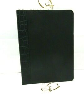 Ralph Lauren Journal 9x7 Large Softcover Leather Lined Pages NEW Black