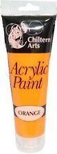 Children Arts Craft Acrylic Paint 8 Tubes of Assorted Colours Each Tube 120ml Orange