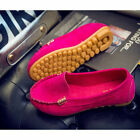 Women Leather Moccasin Comfort Lady Boat Oxfords Shoes Loafers Flat Shoes size