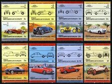St. Vincent Grenadines - Bequia 1984, Cars, Automobiles, 16v 8 pairs MNH