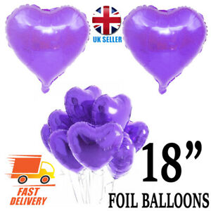 "18"" LOVE HEART SHAPE Foil Air/Helium Balloons Wedding Party Birthday Decora"