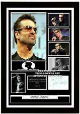 (ab93) george michael signed a4 photograph (reprint) great gift ################