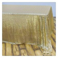 Sparkly Champagne Gold Sequin Table Cloth Cover Wedding Party Banquet Birthday