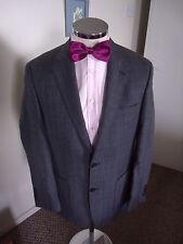 "MARIO BARUTTI Men's Grey Check Half-Lined Blazer C38"" Regular Wool/Linen Blend"
