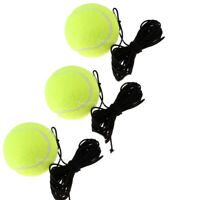 3X Tennis Ball With String Rope Trainer Training Sports Universal For Beginners