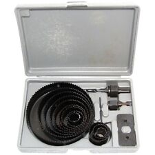 16Pc HOLE SAW CUTTER SET Round/Circular Drill Cutting Case Kit Metal/Alloy/Wood