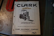 CLARK UTILITRUC 100E Forklift Parts Manual book spare list catalog 1963 owner