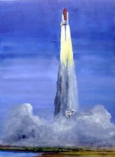 "ORIGINAL GOUACHE - Start des Space Shuttles ""Discovery""."