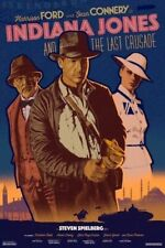 Indiana Jones Last Crusade by Durieux - Screen Printed Movie Poster Mondo Ford