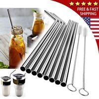 "10.5"" Stainless Steel Metal Drinking Straws Fits Yeti RTIC Tumbler 20 30 oz US"