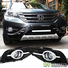 For 2012-2014 Honda CRV CR-V Bumper Fog Lights Driving Lamps + Switch Left+Right