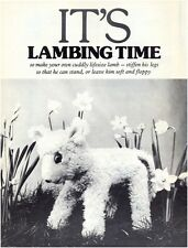 Lamb Soft Toy Diagram Sewing Pattern Instructions S10030 (Not finished item)