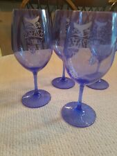 NWOT Nautical Boat Acrylic Wine Glasses Set Of 4