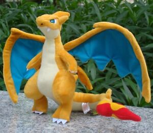 "Mega Charizard  9"" Rizadon Dragon Plush Stuffed Toy Cartoon Soft Doll"