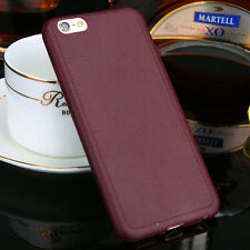 Ultrathin TPU Leather Grain Soft Case Cover Shell For Apple iPhone5 6 6s Plus CA