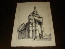 EGLISE DE MACQUIGNY - Lithographie Albert Lemasson - Thiérache