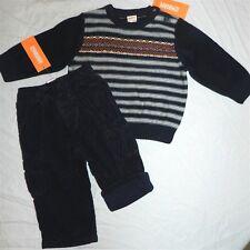 Pant Sweater Set Gymboree Navy Cargo 2pc Stripe Fall Winter Boy sz 12-18 mo New