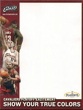 CLEVELAND CAVALIERS 2004 PLAYOFFL SCRATCH PAD 8.5 X 11 UNIQUE HOMEMADE COLLECTIB