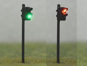 S310 - 2 Stück Lichtsignale LED rot / grün 4,5cm hoch Signale für TT