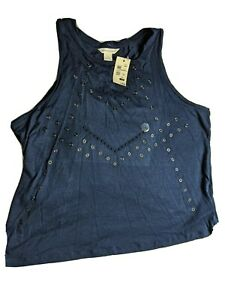 Aeropostale Size Small Navy Blue Casual Tank Top NWT