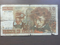 France 10 Francs Banknote 1976 Old Collectible Foreign Paper Money