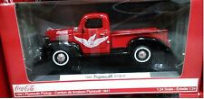 Coca-Cola 1941 Plymouth Pickup Truck Die-cast 1:24 Motor City 8 inch 438068 Red