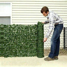More details for 3m x 1m artificial hedge ivy leaf garden fence roll privacy screen wall cover uk