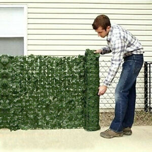 3m x 1m Artificial Hedge Ivy Leaf Garden Fence Roll Privacy Screen Wall Cover UK