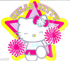 """5"""" Hello kitty pep rally cheer wall safe sticker border cut out character"""
