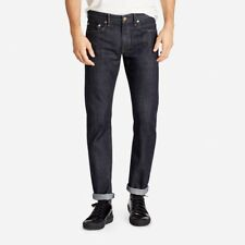 Abercrombie&Fitch Japanese Selvedge Men's Slim Straight Jeans Rinse NEW 34x32