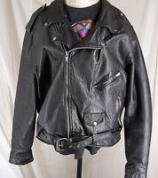 CHANGIN' TIMES MILWAUKEE Motorcycle Biker Leather Jacket Men's 50 Brando Style