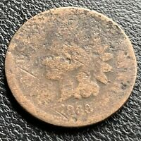 1866 Indian Head Cent 1c Circulated #21610