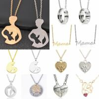 Charm Baby Mom Dad Daughter Son Heart Necklace Pendant Family Love Cat Jewelry
