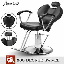 Fashion Reclining Barber Chair Hair Salon Beauty PVC leather Spa Equipment New