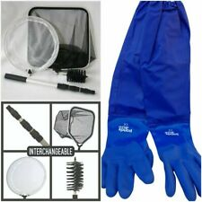 More details for pond cleaning care kit, 4-in-1 net set with telescopic pole and full arm gloves
