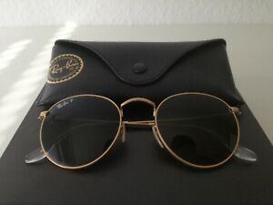 Ray-Ban RB3447 Round Metal Sonnenbrille - Polarized, gold, Herren/Damen