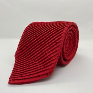 """Brioni Red and Black Ribbed Necktie 61 1/2' x 3 3/8"""""""
