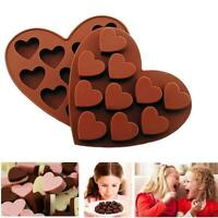 Heart shape Silicone Mould large 10 hearts candy chocolate Mold New