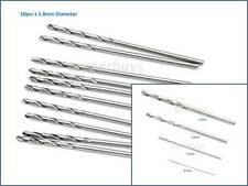 10Pc 1.8mm HSS Micro Mini Steel Twist Drill Bit Straight Shank Shaft Rotary Tool