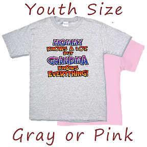 Kids Youth Shirt Grandma Knows Everything Funny tshirt