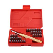 38Pc/Set Automatic Letter Number Stamping Metal Punch Stamp Tools Kit For P